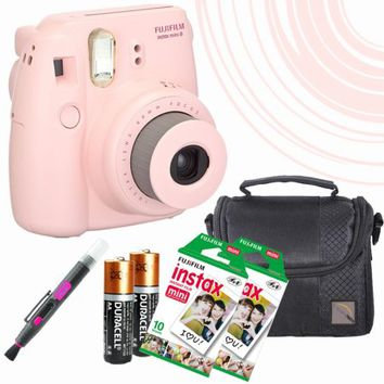Mini 8 Instant Film Camera (Pink) - 20 Instant Film -quality photo Case - batteries - spray/brush pen - Walmart.com