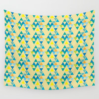 colorful triangle pattern Wall Tapestry by Berwies