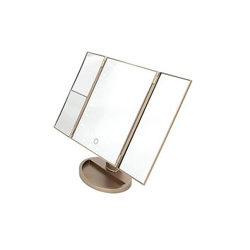 LED TriFold Touch Screen Vanity Makeup Mirror