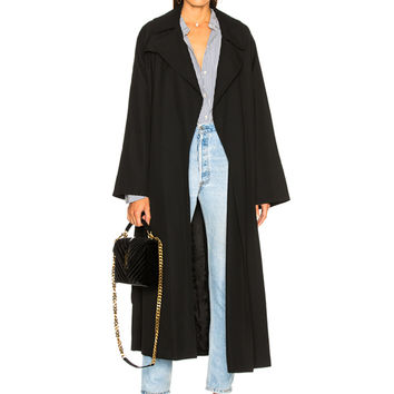 NILI LOTAN Matland Coat in Black | FWRD