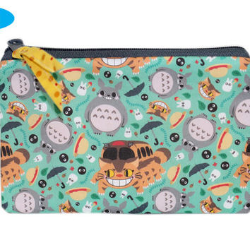 NEW Studio Ghibli Zipper Pouch | My Neighbor Totoro | Soot Sprites | Catbus | Zipper Bag | Zippered Makeup Bag