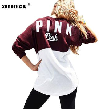 PINK Ladies Casual Sweatshirts