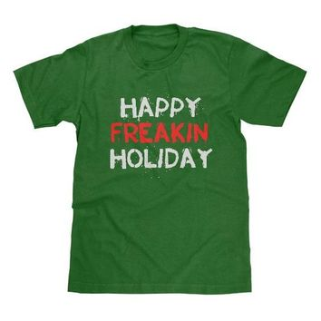 Happy Freakin Holiday Shirt Green Available in Adult & Youth Sizes