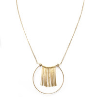 Bangs Necklace Set In Gold