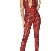 Red Light  Halter Jumpsuit