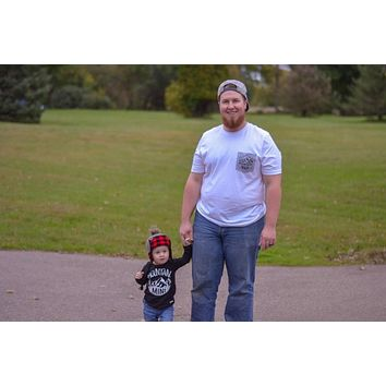 Mountain Man pocket design & Mountain Mini — Daddy and Me Matching Set