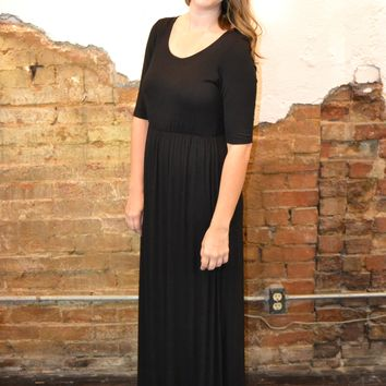 Sing with Me Black Maxi Dress