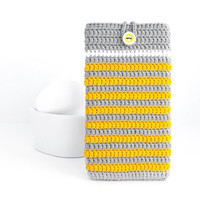 Grey Yellow LG G3 phone case, iPhone 6 plus pouch, Galaxy Note 4 sleeve, Kindle Voyage cover, Nexus 6 case, OnePlus One pouch, Xperia Z cozy