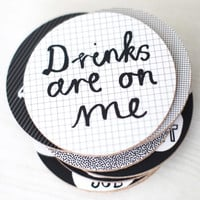 Drinks Are On Me Coaster Set