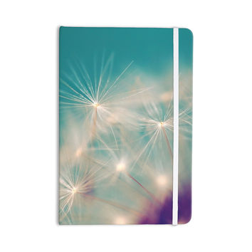 "Sylvia Cook ""Dandelion Seedhead"" White Aqua Everything Notebook"