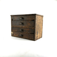 Antique Oak General Store Machinists Cabinet by DailyMemorandum