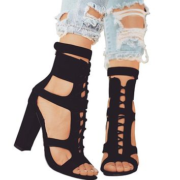 Lara Lace Up Ankle Strap Sandals