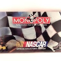Monopoly Game NASCAR Official Collectors Edition Car Racing Board Game 1997 NEW