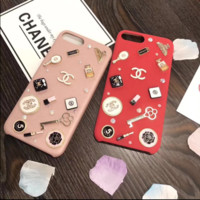 CHANEL print phone shell phone case for Iphone 6/6s/6p/7p/7