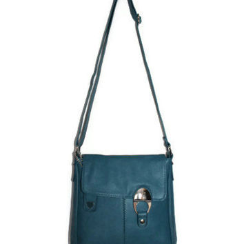Small Leather Bag - Shoulder Handbag - Teal Blue Bag - Purse - Women bag - Hobo Bag - Spring Trends - Gift Idea