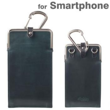 Strapya World : Agility affa Corege Chromexcel Leather Smartphone Case (Chromexcel / Navy)