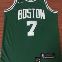 Boston Celtics #7 Jaylen Brown Green Swingman Jersey