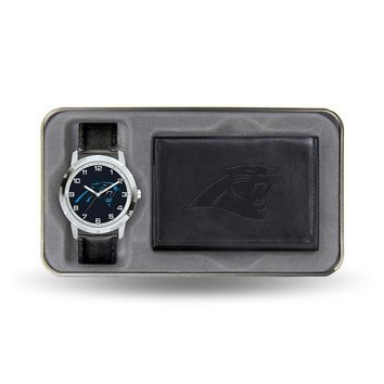 Carolina Panthers NFL Men's Watch & Wallet Gift Set