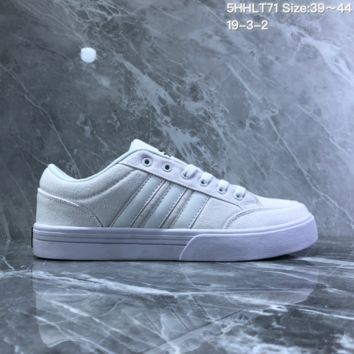 HCXX A735 Adidas NEO campus opens mouth to laugh canvas board shoe White