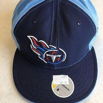 TENNESSEE TITANS RETRO NEW ERA  5950 NAVY & SKY BLUE FITTED HAT SHIPPING