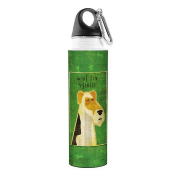 Tree-Free Greetings VB47992 John W. Golden Artful Traveler Stainless Steel Water Bottle, 18-Ounce, Wire Fox Terrier