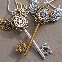 Mixed Steampunk Key Necklace Set