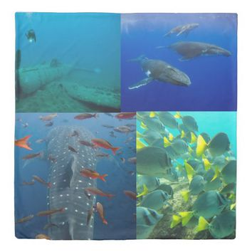 underwater collage ver 1 duvet cover