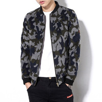 Plus Size Men Camouflage Jackets Men Slim Fits Coats Casual Men's Jackets Men Outwears BL