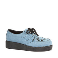 Light Blue Denim Brothel Creepers