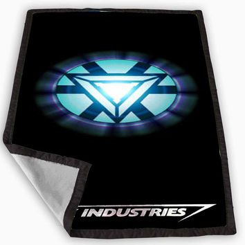 Iron Man Arc Reactor Stark Industries Blanket for Kids Blanket, Fleece Blanket Cute and Awesome Blanket for your bedding, Blanket fleece **