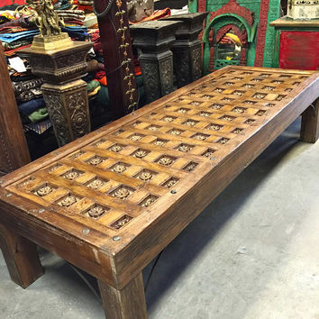Shop Carved Coffee Table On Wanelo