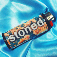 Stoned Trippy Flower Bic Lighter Case