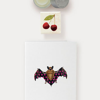 Valentine's Day Duo: Cherry Bomb Lip Balm & Bat Crazy Card