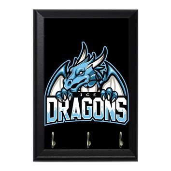 Ice Dragons Decorative Wall Plaque Key Holder Hanger