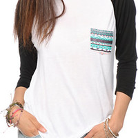 Empyre Indira Tribal Pocket Baseball Tee