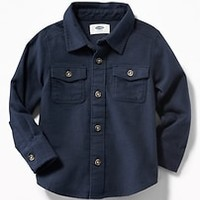 Double-Pocket Flannel Shirt for Toddler Boys|old-navy