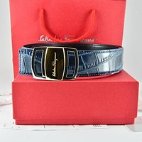 Salvatore Ferragamo Men Fashion Smooth Buckle Belt Leather Belt