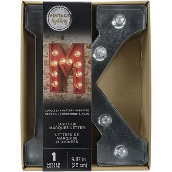 Darice Metal Marquee Letter K - Galvanized Silver 9.875 Inches