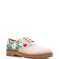 Homere Embroidered Linen Brogues