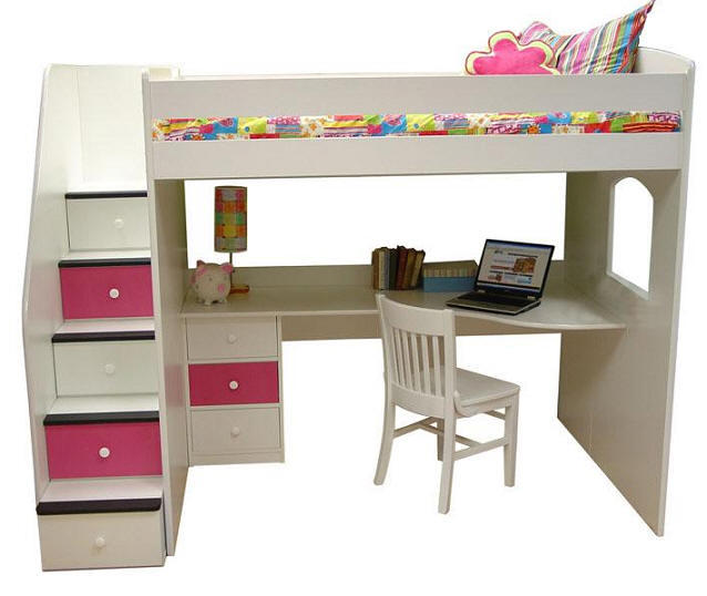 Alameda Full Size Stairway Loft Bed From Totally Kids Fun