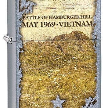 Zippo Lighter: Vietnam War, Battle of Hamburger Hill - Street Chrome 77328