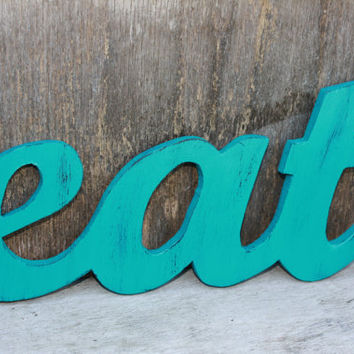 Eat sign EAT sign for kitchen retro eat sign by sweetshelbys