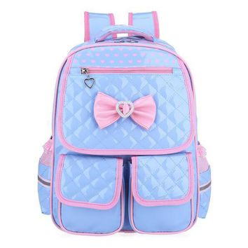 New girl schoolbag cute school backpack orthopedic school bags for girls Korean style student bag girl pink leather back SB01
