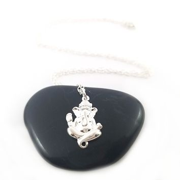Ganesh Necklace - Sterling Silver Jewelry - Gift for Her