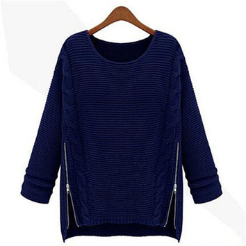Lorna Side Zip Sweater