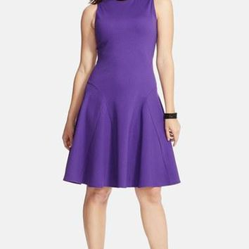 Plus Size Women's Lauren Ralph Lauren Sleeveless Ponte Fit & Flare Dress,