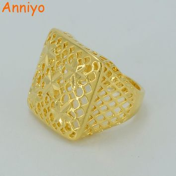 Anniyo Gold Color Ring for Women/Girls,Ethiopian Bride Jewelry/Africa/Arab Ring/Nigeria/Middle East Items #012502