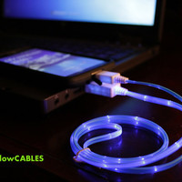 Blue glow cable for samsung galaxy s2 s3 s4 I II III - micro usb also works with htc droid dna one mini lg g2 nexus 4 5 7 motorolla moto x
