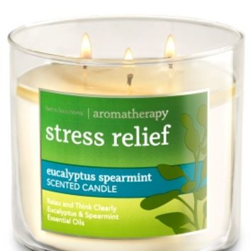 3-Wick Candle Stress Relief - Eucalyptus Spearmint