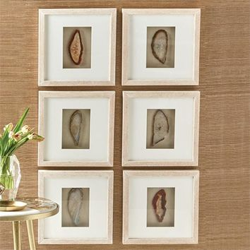 Geode Wall Art - Set of 6